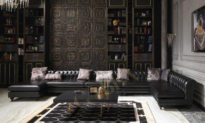 July siyah chester koltuk takımı modelimiz evinize şıklık katacak Gabba Home'da
