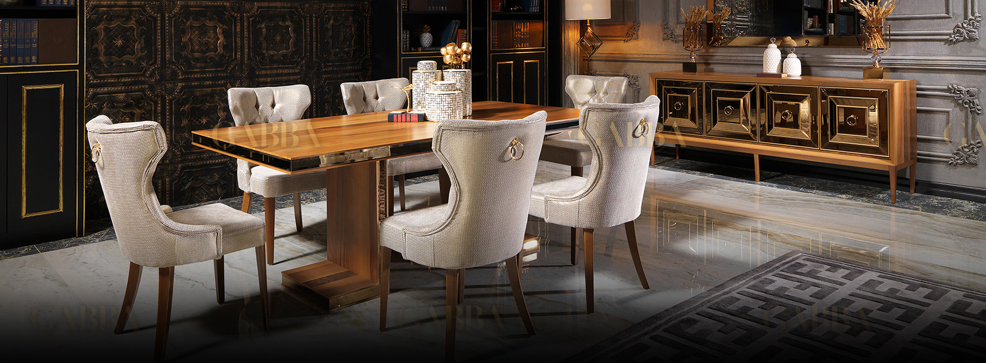 Collection Versace 1022 Gabba, Versace Dining Room Set
