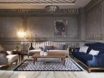 Bugatti Art Deco Ceviz Ayaklı Koltuk Takımı | Gabba Home