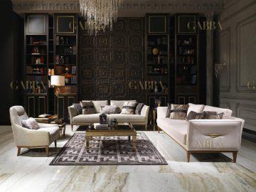 Versace Beyaz Modern Koltuk Takımı   Gabba Home